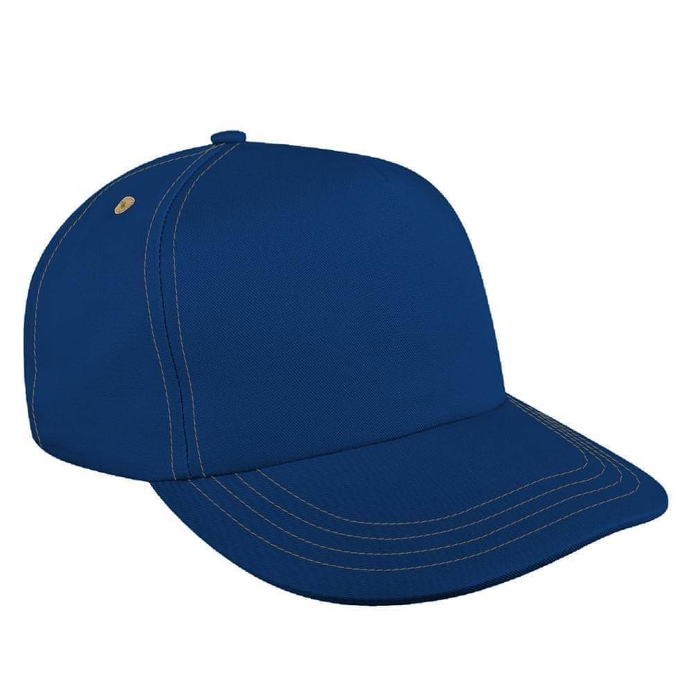 Contrast Stitching Ripstop Snapback Skate Hat