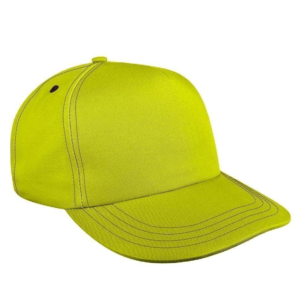 Contrast Stitching Twill Self Strap Skate Hat
