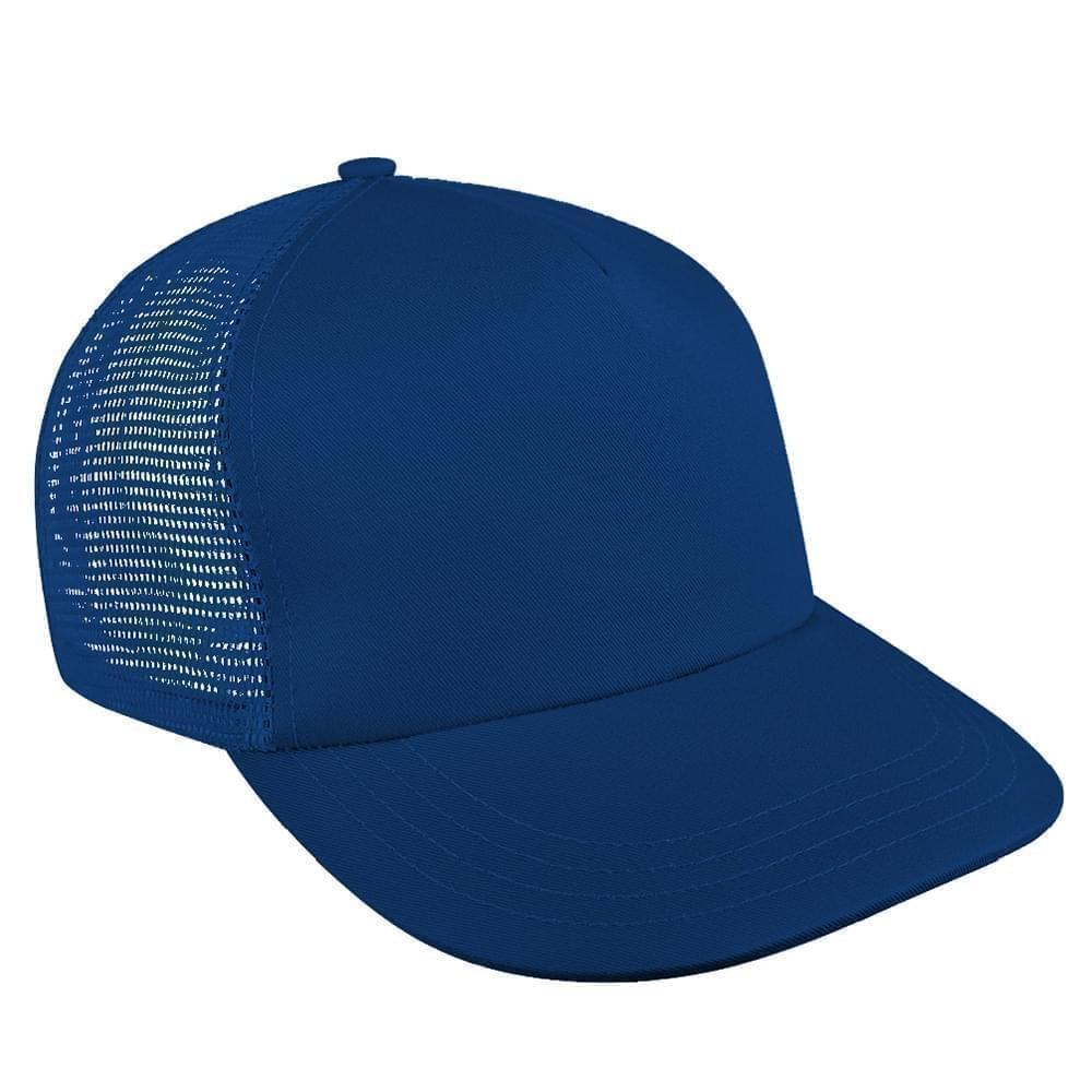 Solid Mesh Back Brushed Front Snapback Skate Hat