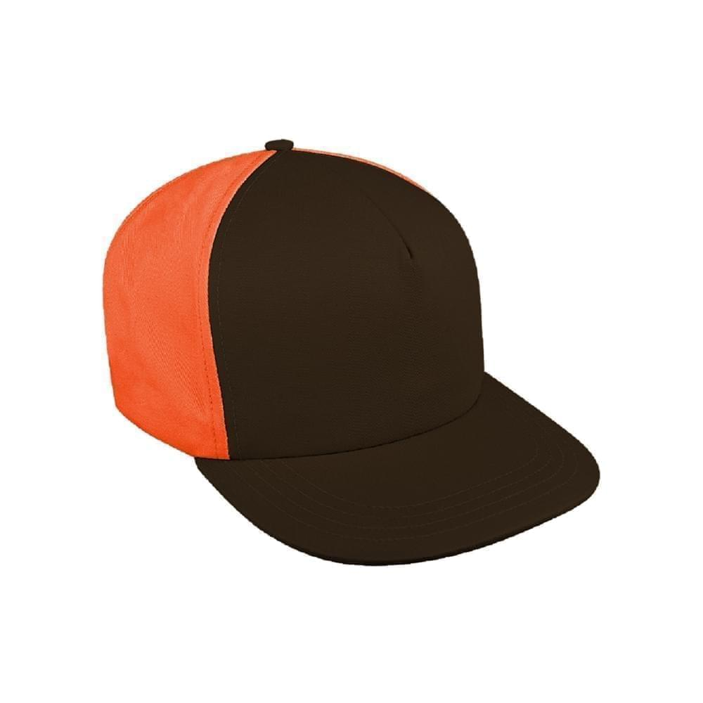 Contrast Back Canvas Leather Trucker