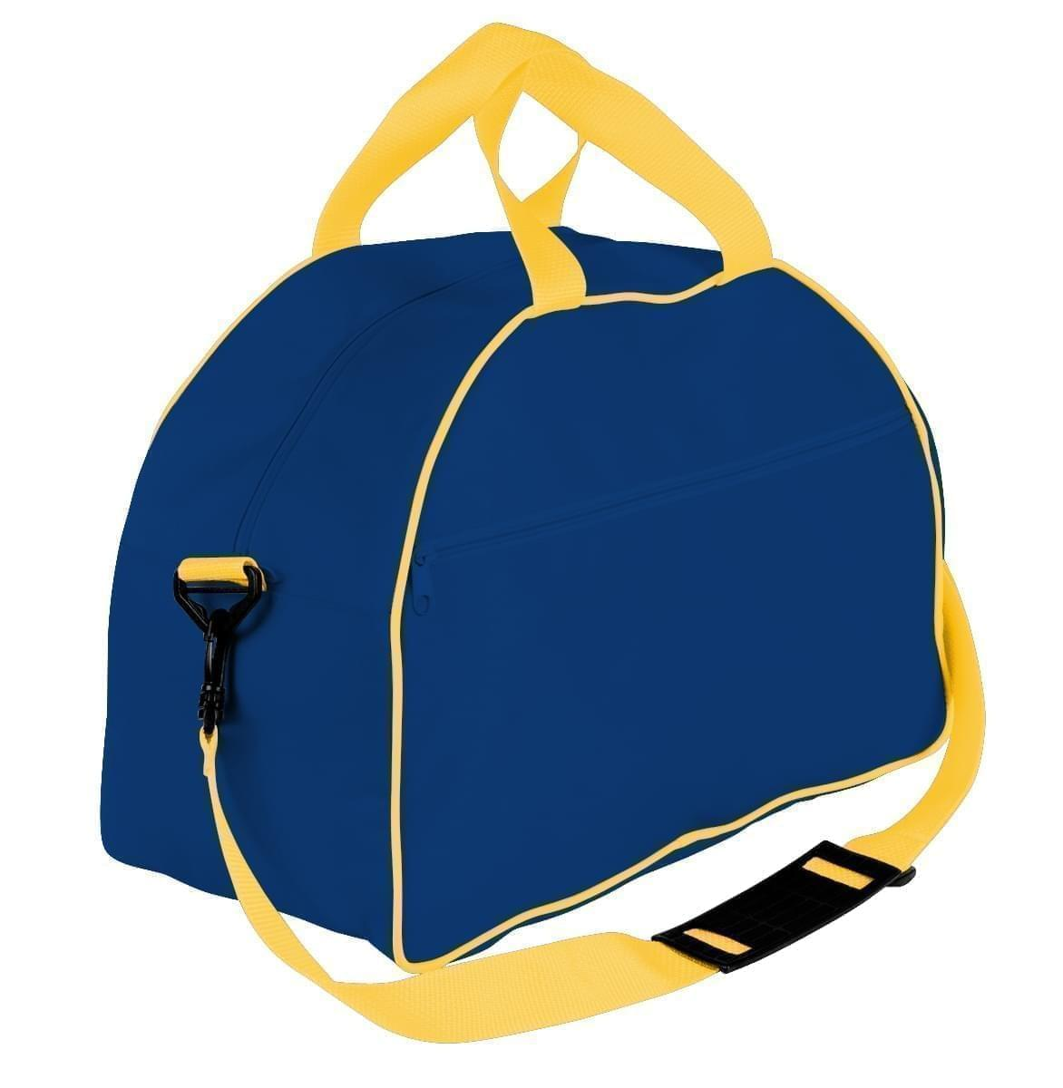 USA Made Nylon Poly Weekender Duffel Bags, Royal Blue-Gold, 6PKV32JA05