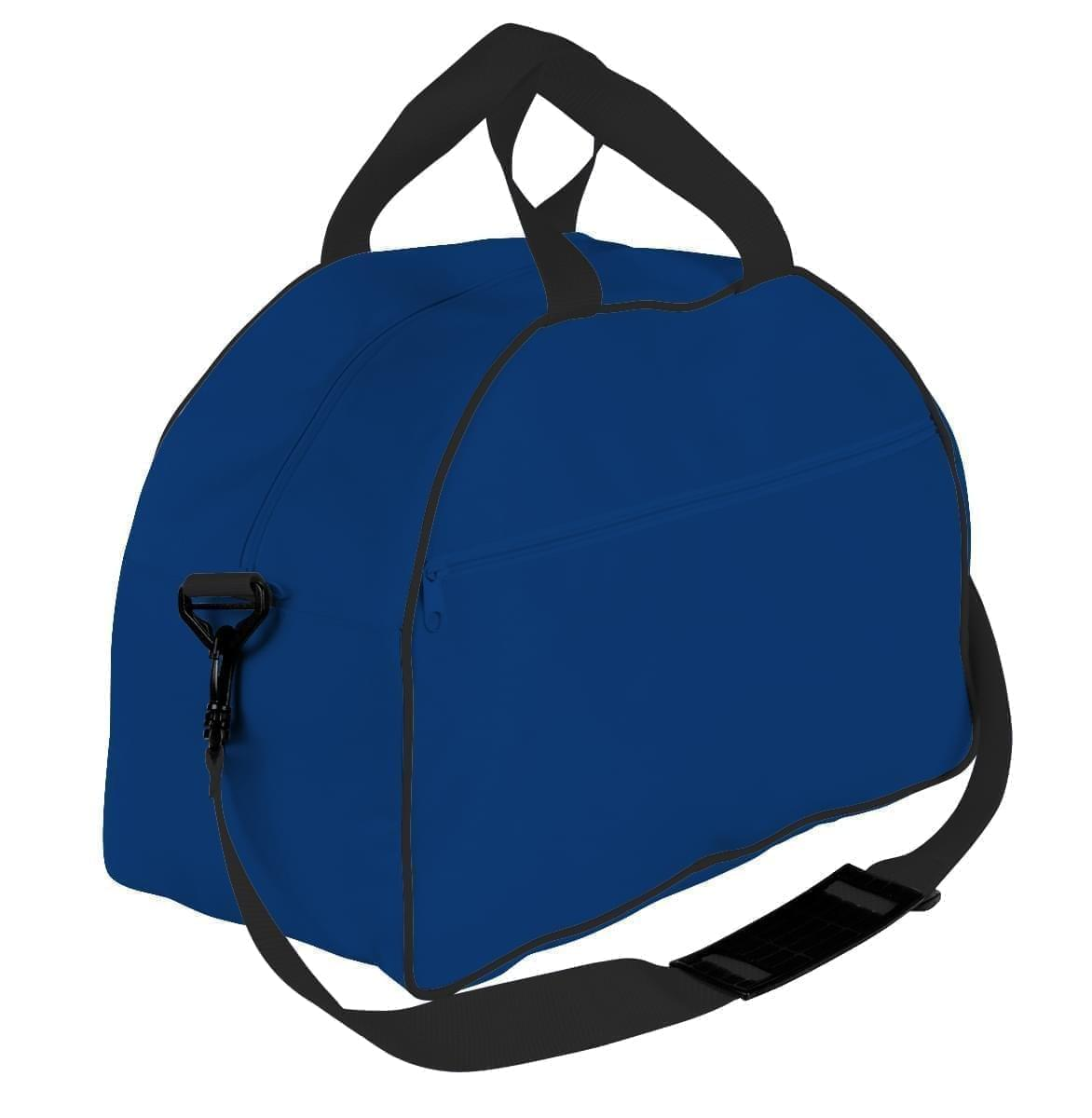 USA Made Nylon Poly Weekender Duffel Bags, Royal Blue-Black, 6PKV32JA0R