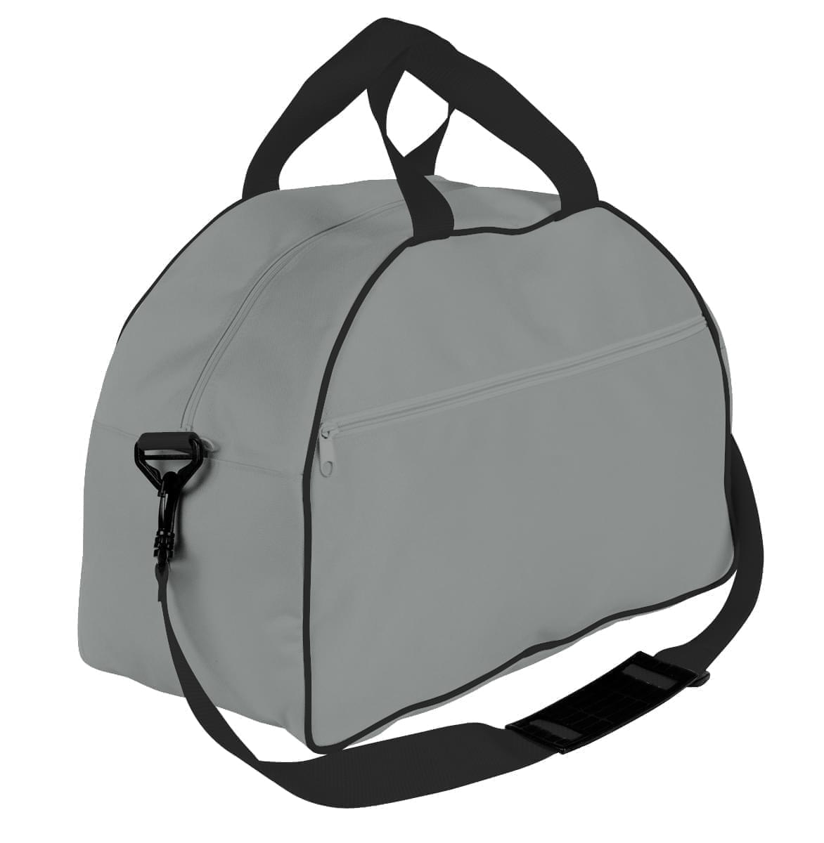 USA Made Nylon Poly Weekender Duffel Bags, Grey-Black, 6PKV32JA1R