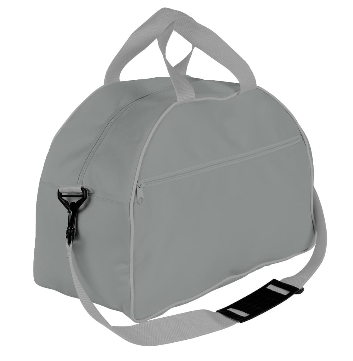 USA Made Nylon Poly Weekender Duffel Bags, Grey-Grey, 6PKV32JA1U