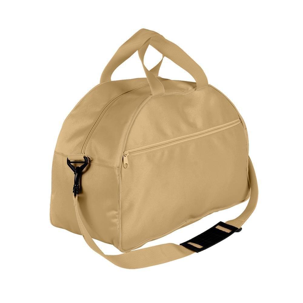 USA Made Nylon Poly Weekender Duffel Bags, Khaki-Khaki, 6PKV32JA2X