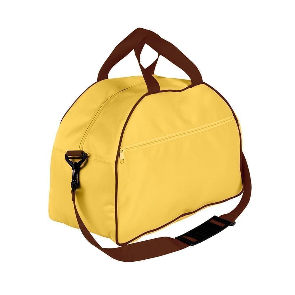 USA Made Nylon Poly Weekender Duffel Bags, Gold-Brown, 6PKV32JA4S