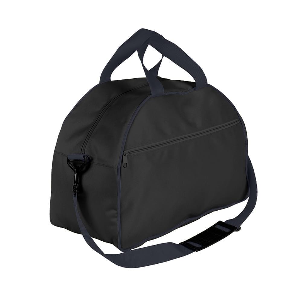 USA Made Nylon Poly Weekender Duffel Bags, Black-Graphite, 6PKV32JAOT