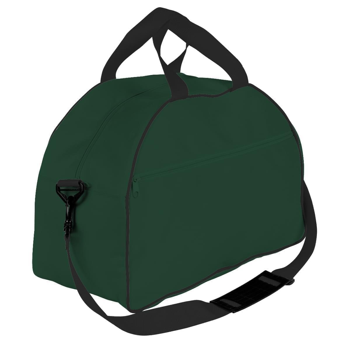 USA Made Nylon Poly Weekender Duffel Bags, Hunter Green-Black, 6PKV32JASR