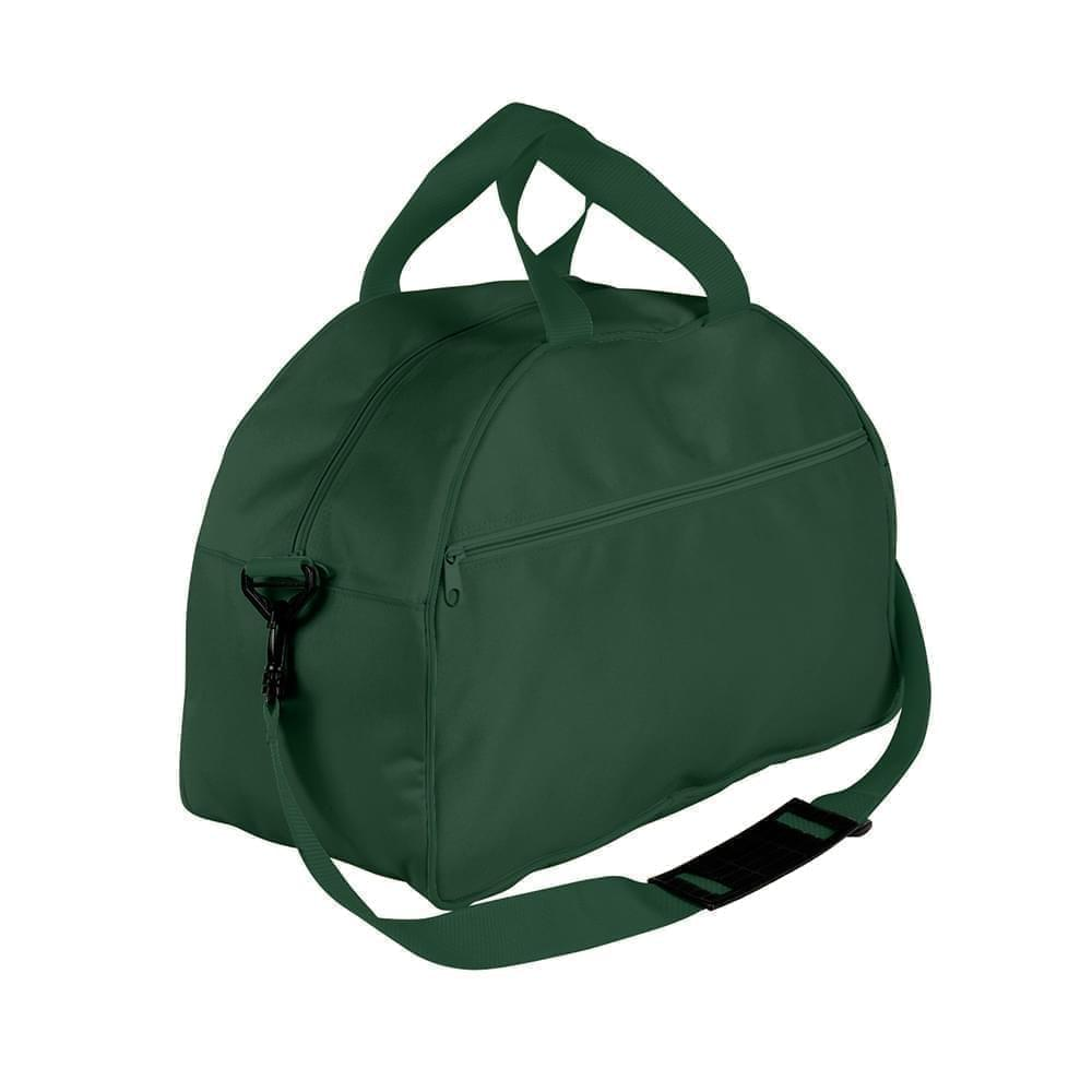 USA Made Nylon Poly Weekender Duffel Bags, Hunter Green-Hunter Green, 6PKV32JASV