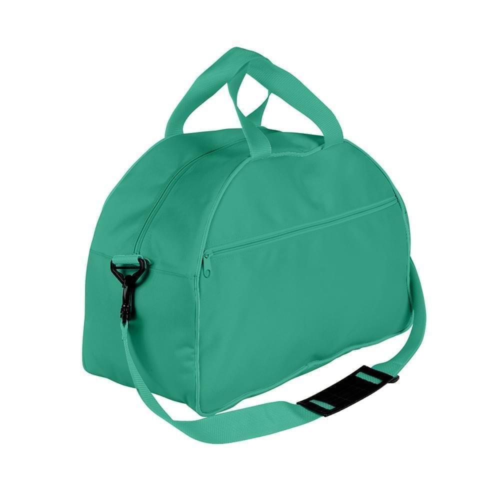 USA Made Nylon Poly Weekender Duffel Bags, Kelly Green-Kelly Green, 6PKV32JATW