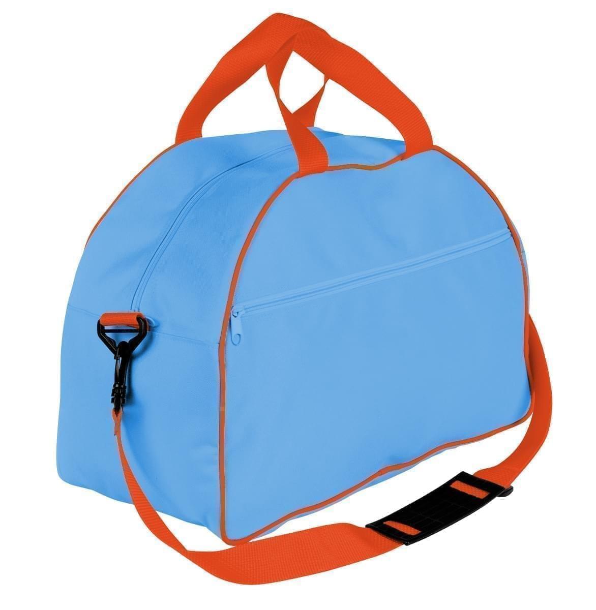 USA Made Nylon Poly Weekender Duffel Bags, Columbia-Orange, 6PKV32JAU0