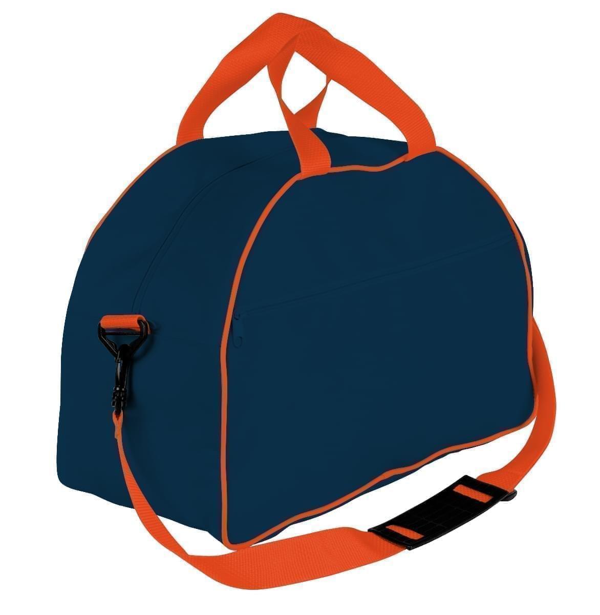 USA Made Nylon Poly Weekender Duffel Bags, Navy-Orange, 6PKV32JAW0