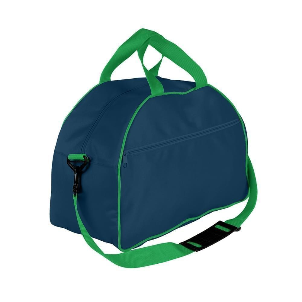 USA Made Nylon Poly Weekender Duffel Bags, Navy-Kelly Green, 6PKV32JAWW