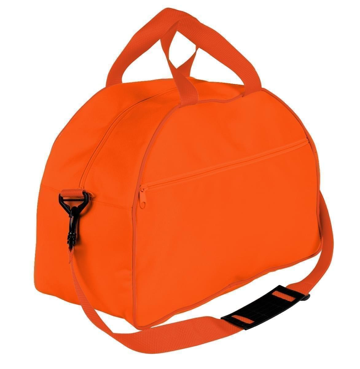 USA Made Nylon Poly Weekender Duffel Bags, Orange-Orange, 6PKV32JAX0