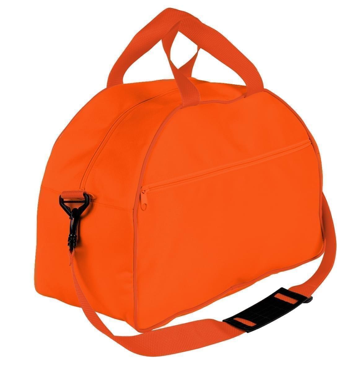 USA Made Nylon Poly Weekender Duffel Bags, Orange-Orange, 6PKV32JAX0