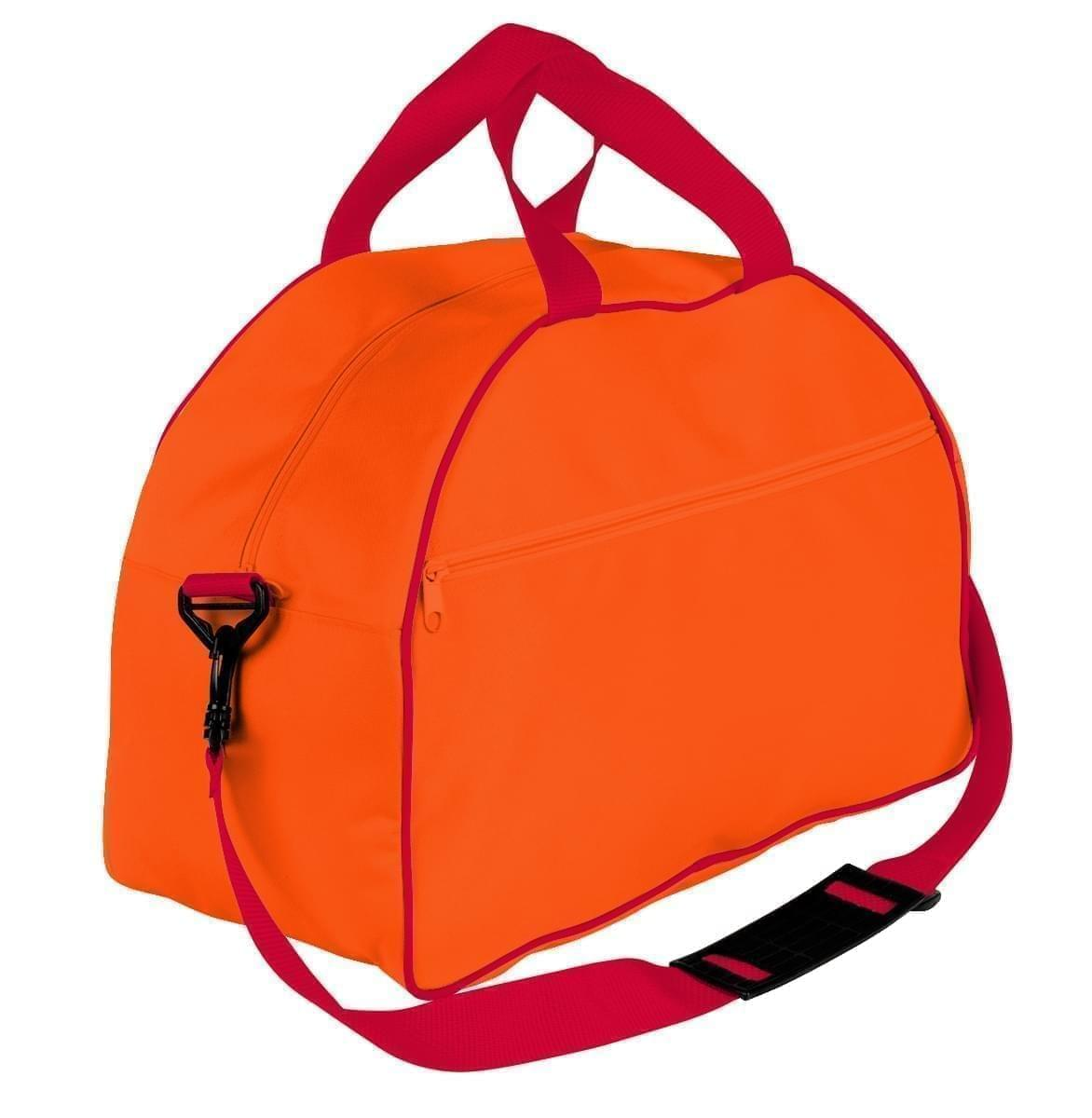 USA Made Nylon Poly Weekender Duffel Bags, Orange-Red, 6PKV32JAX2