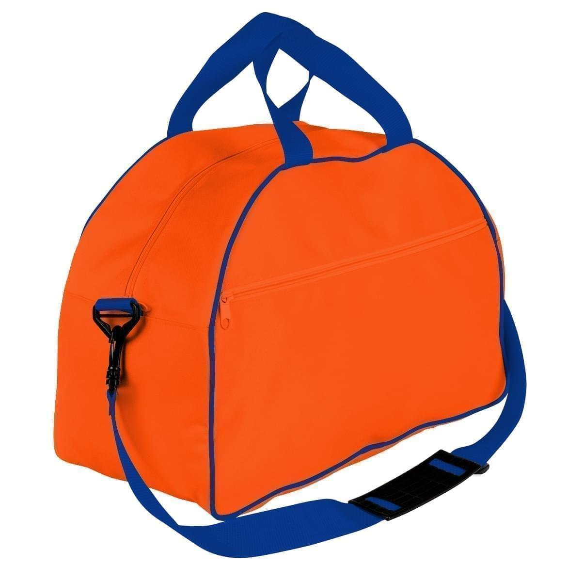 USA Made Nylon Poly Weekender Duffel Bags, Orange-Royal Blue, 6PKV32JAX3