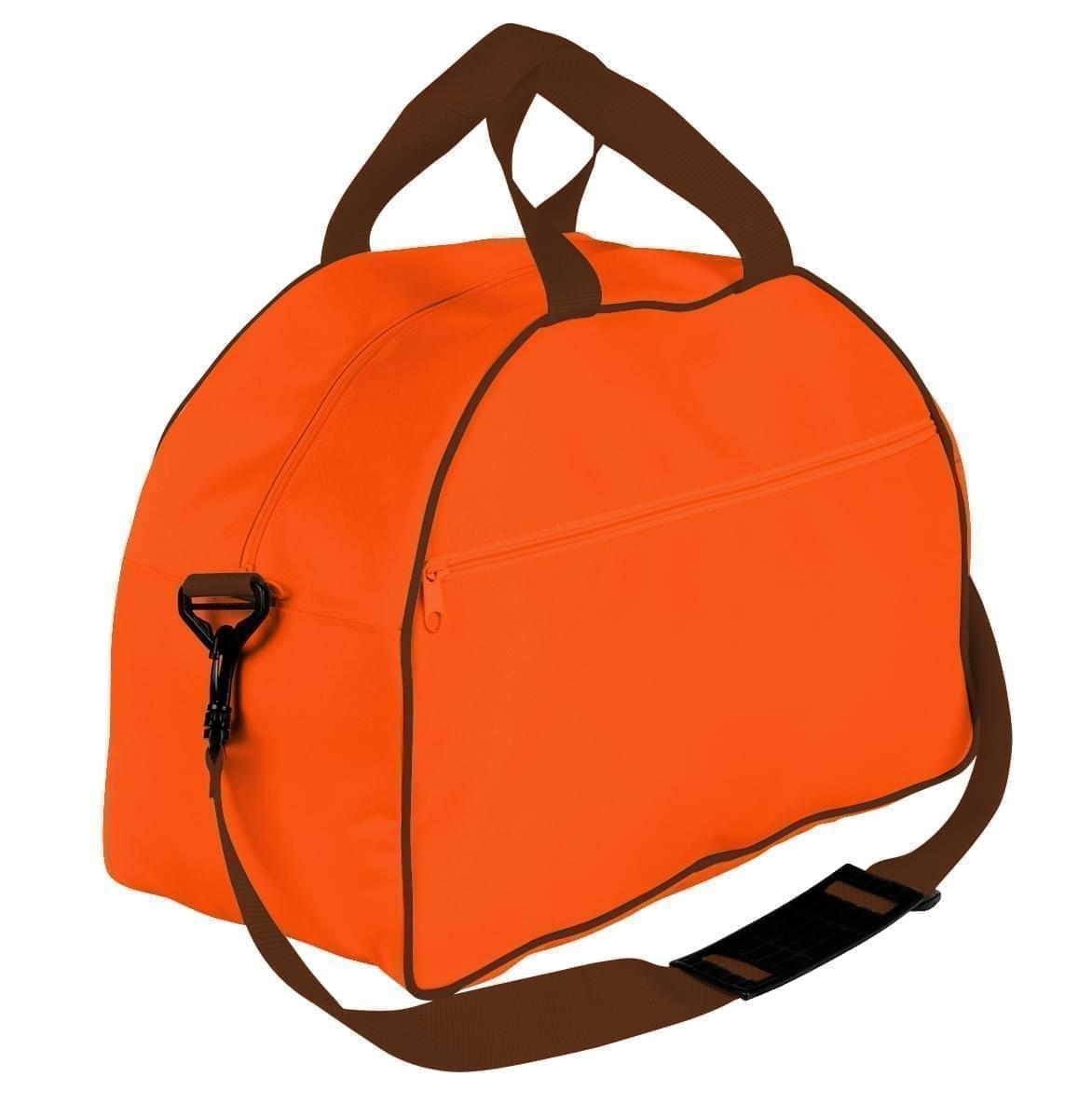 USA Made Nylon Poly Weekender Duffel Bags, Orange-Brown, 6PKV32JAXS