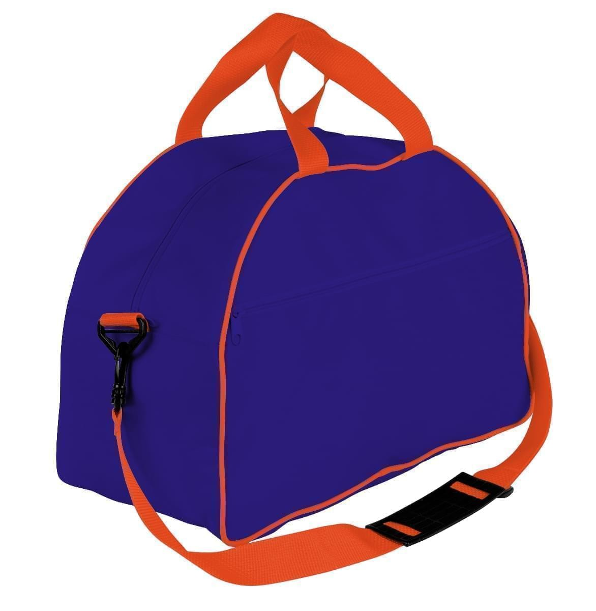 USA Made Nylon Poly Weekender Duffel Bags, Purple-Orange, 6PKV32JAY0