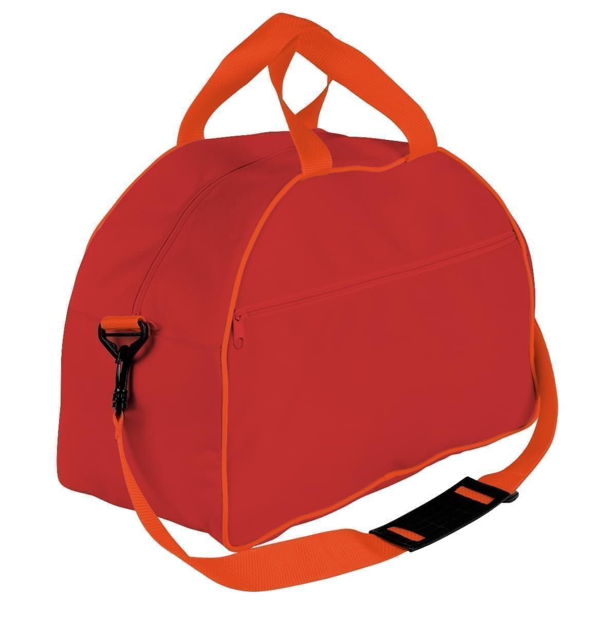 USA Made Nylon Poly Weekender Duffel Bags, Red-Orange, 6PKV32JAZ0
