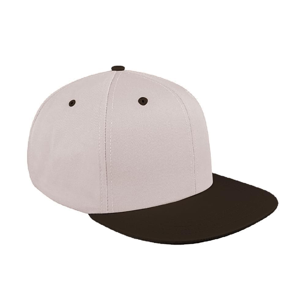 3130ee70f4da2 Pro Knit Leather Flat Brim Baseball Caps Union Made in US by Unionwear