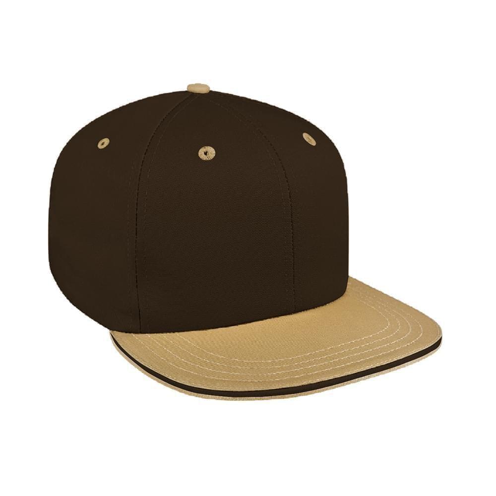 350dd194bb90c Brushed Snapback Flat Brim Baseball Caps Union Made in US by Unionwear