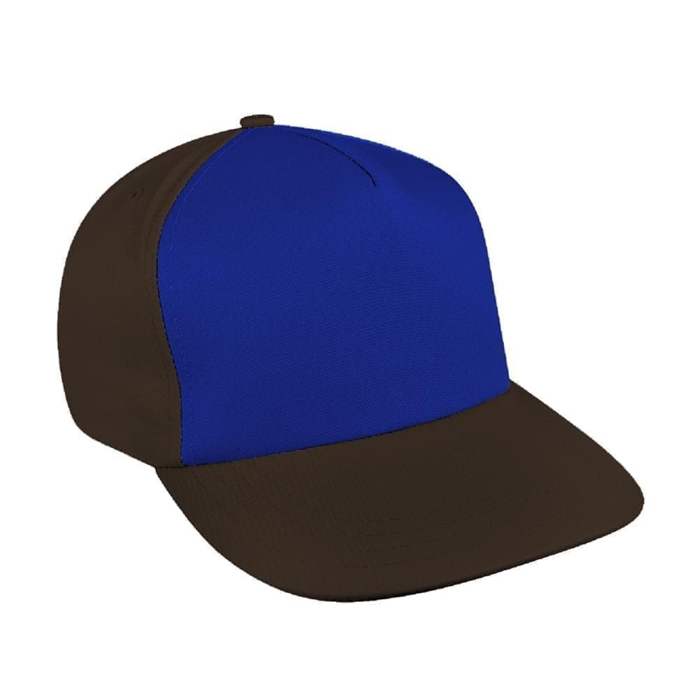648ec03b9f8bd Twill Self Strap Flat Brim Baseball Caps Union Made in US by Unionwear