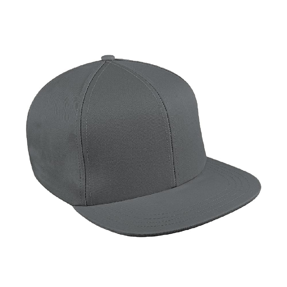 Solid Color Wool Snapback Flat Brim