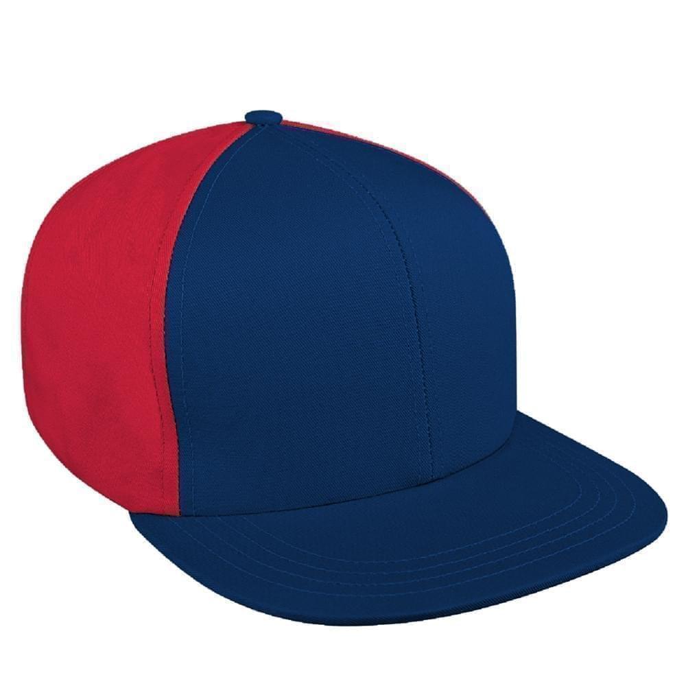 3ea03183a3b2b Denim Self Strap Flat Brim Baseball Caps Union Made in US by Unionwear