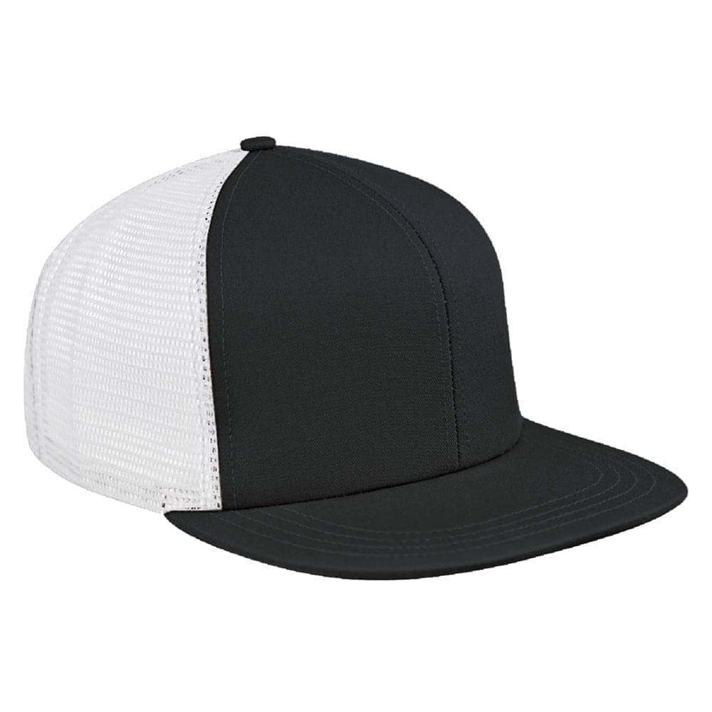 Dark Gray-White Brushed Front Snapback Flat Brim