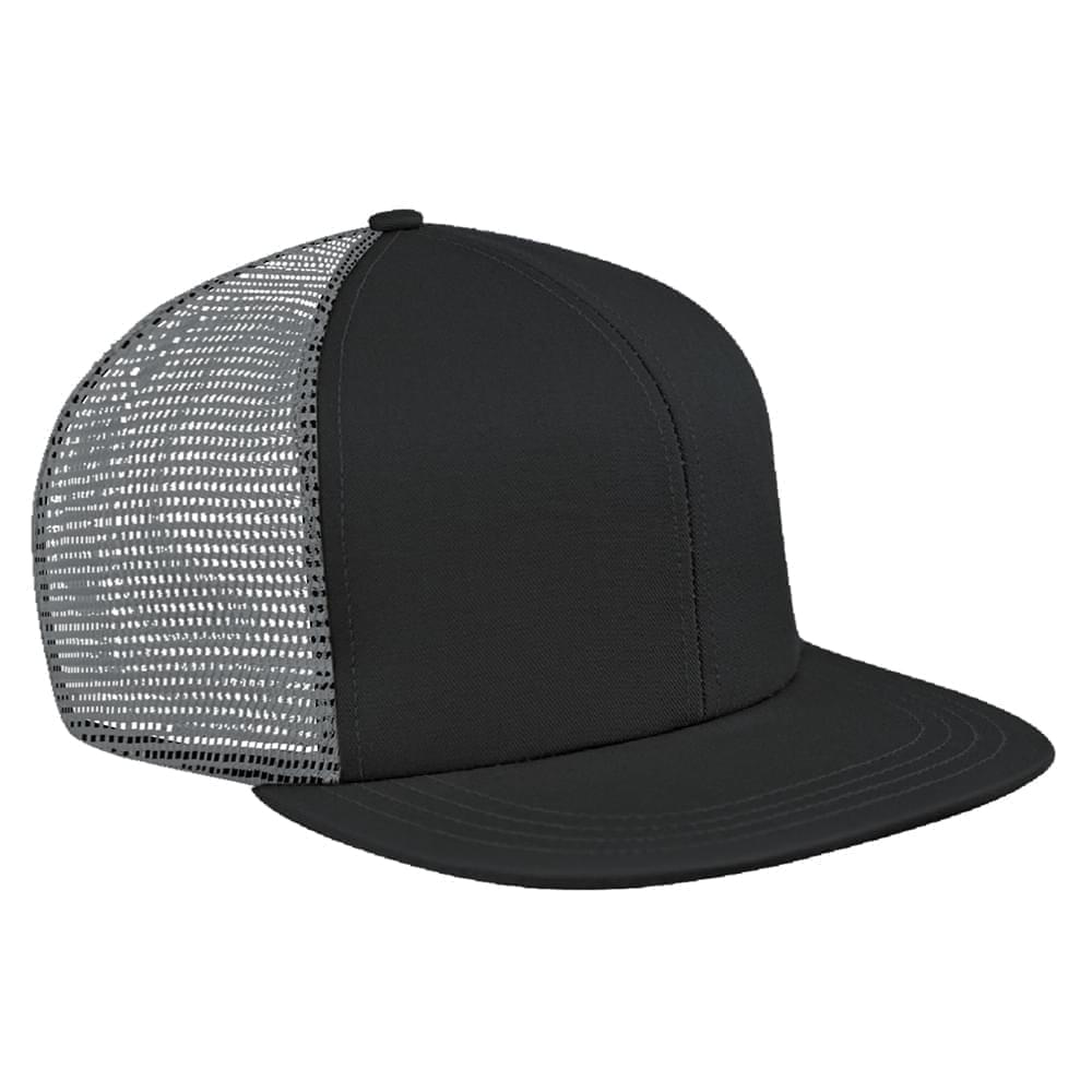 Contrast Mesh Back Brushed Front Slide Buckle Flat Brim