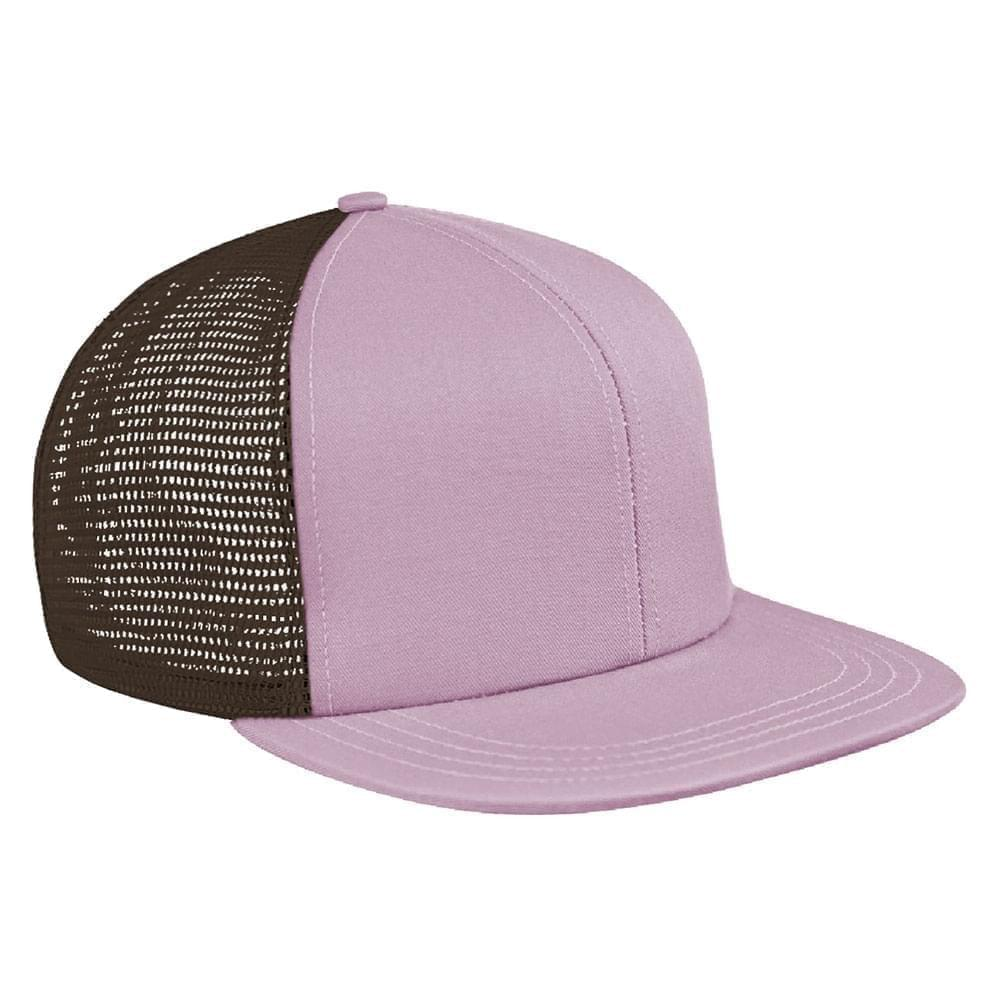 Pink-Black Brushed Front Snapback Flat Brim