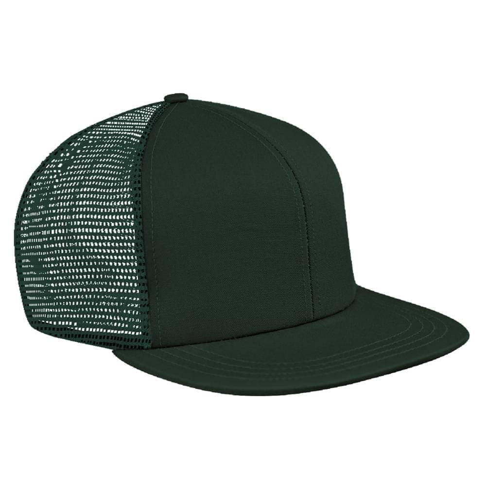 Hunter Green Brushed Front Snapback Flat Brim