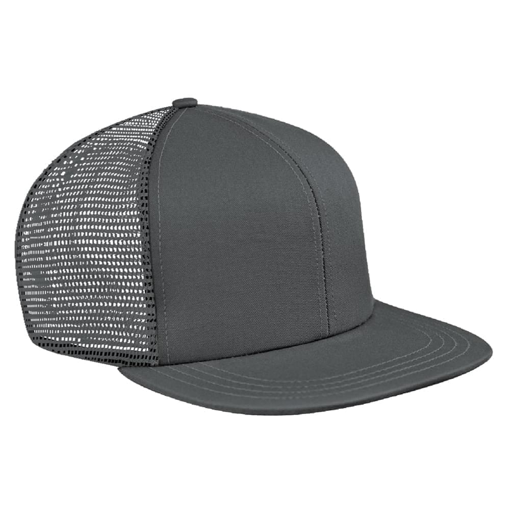 Light Gray Brushed Front Snapback Flat Brim