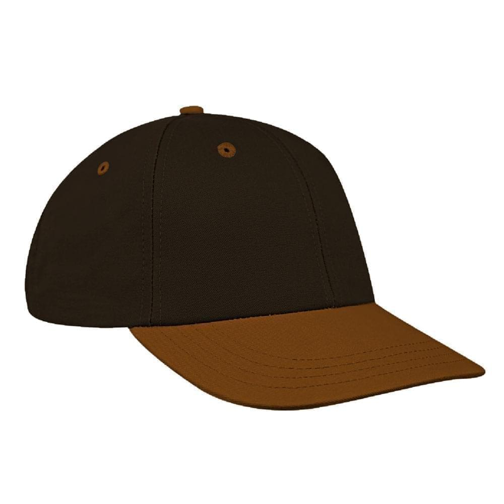 Black-Light Brown Canvas Snapback Lowstyle