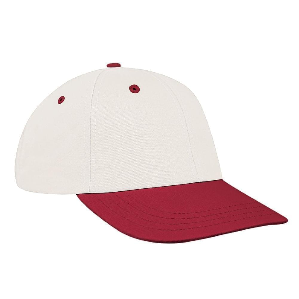 White-Red Canvas Snapback Lowstyle