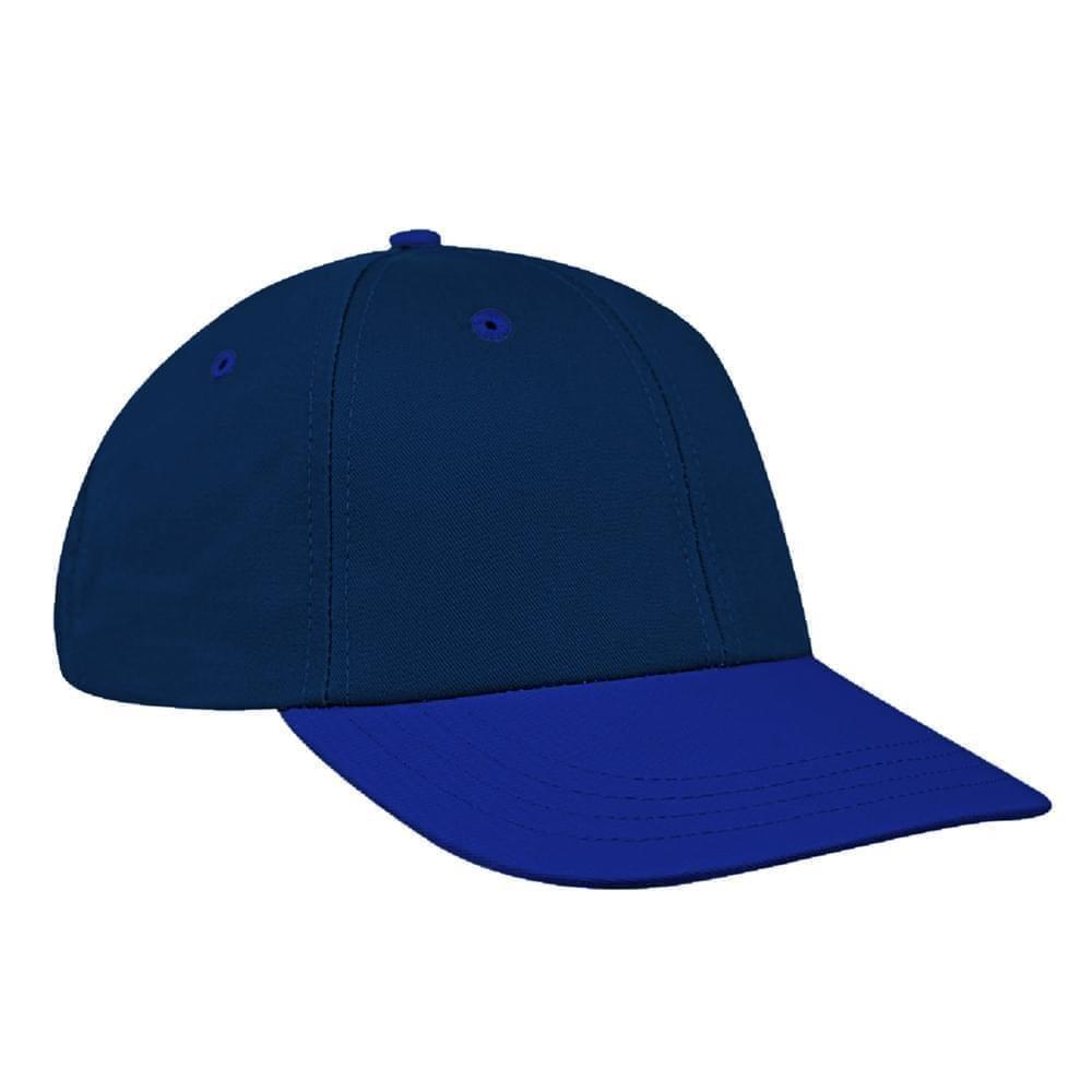 Navy-Royal Blue Canvas Snapback Lowstyle