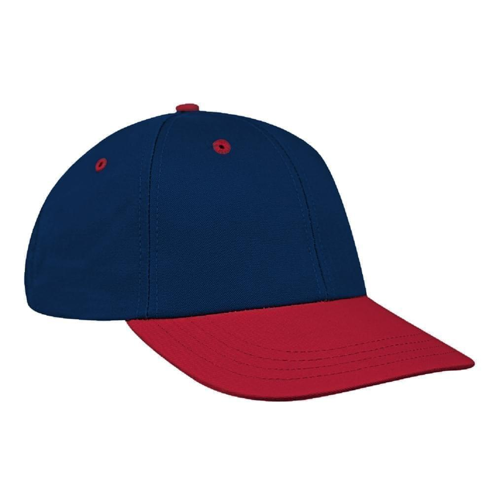 Navy-Red Canvas Velcro Lowstyle