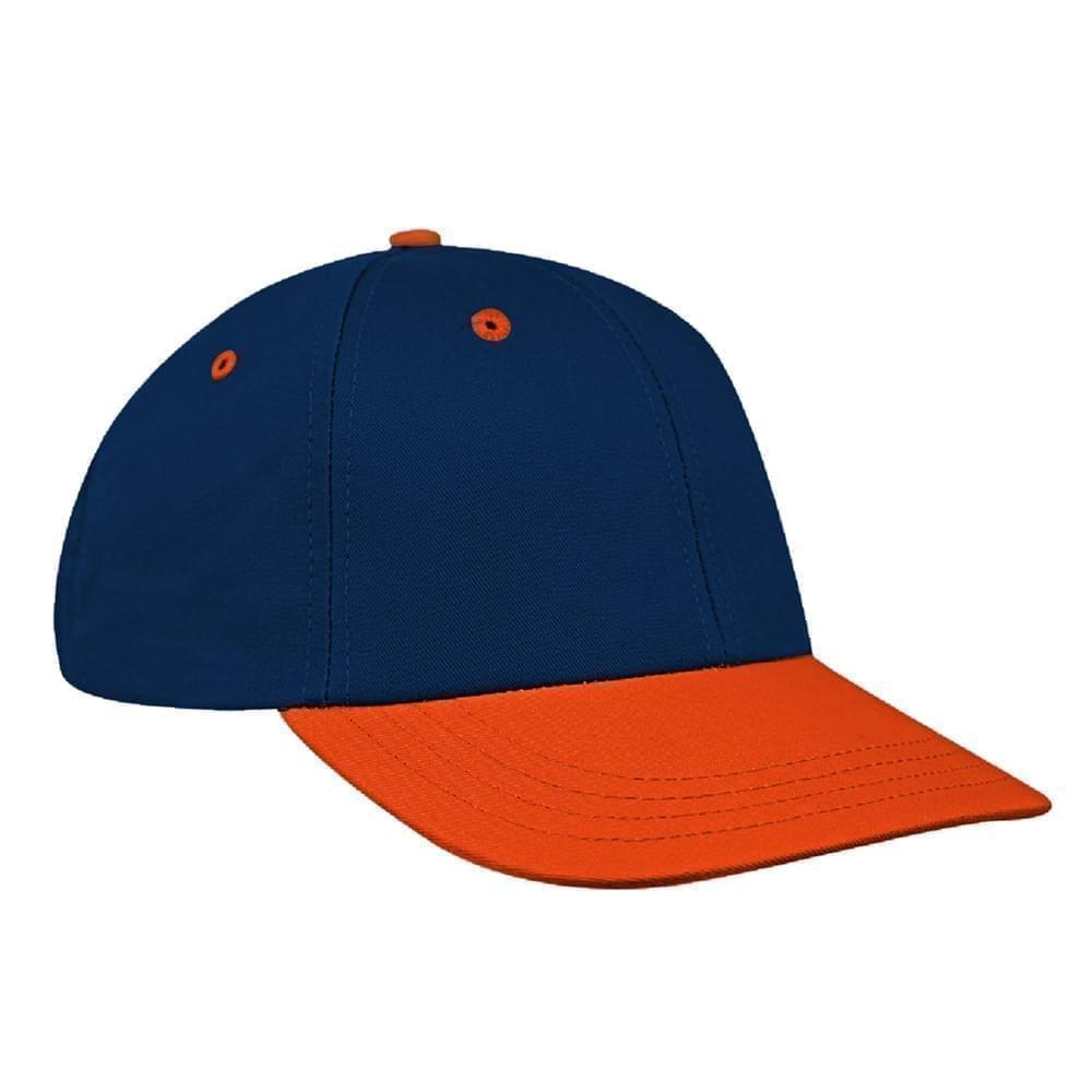 Navy-Orange Canvas Snapback Lowstyle