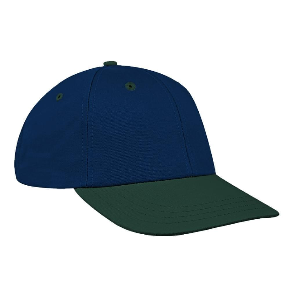 Navy-Hunter Green Canvas Snapback Lowstyle