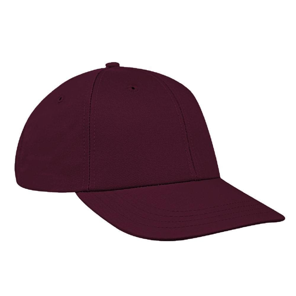 Burgundy Canvas Snapback Lowstyle
