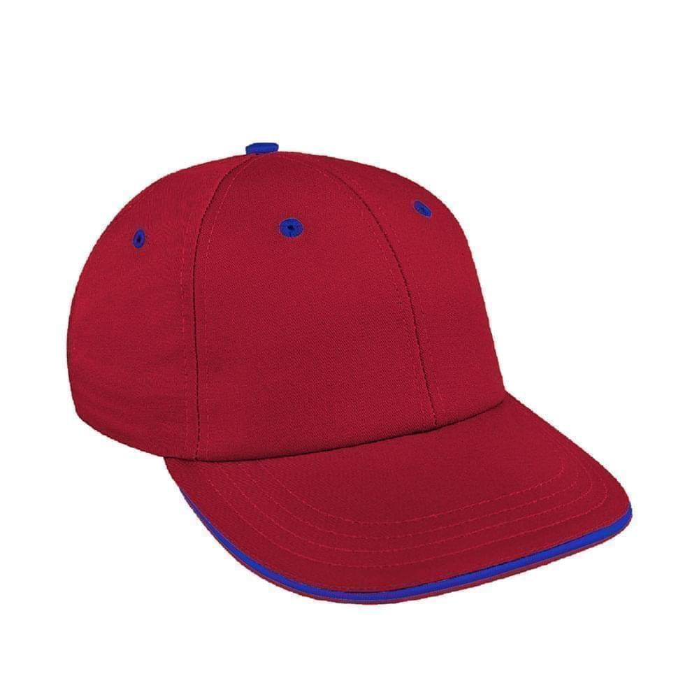Red-Royal Blue Canvas Velcro Lowstyle