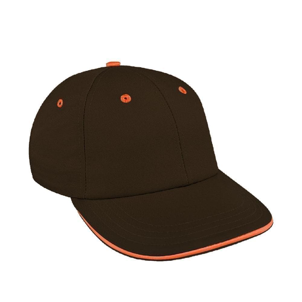 Black-Orange Canvas Snapback Lowstyle