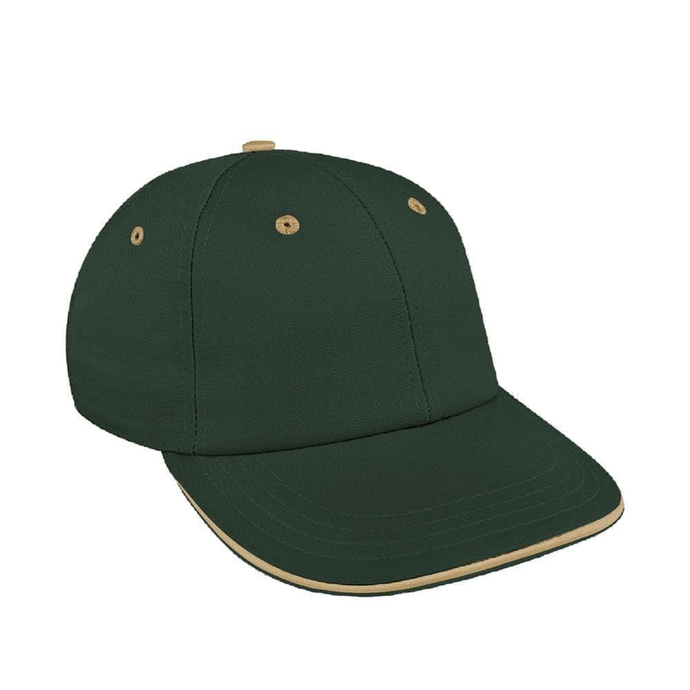 Hunter Green-Khaki Canvas Snapback Lowstyle
