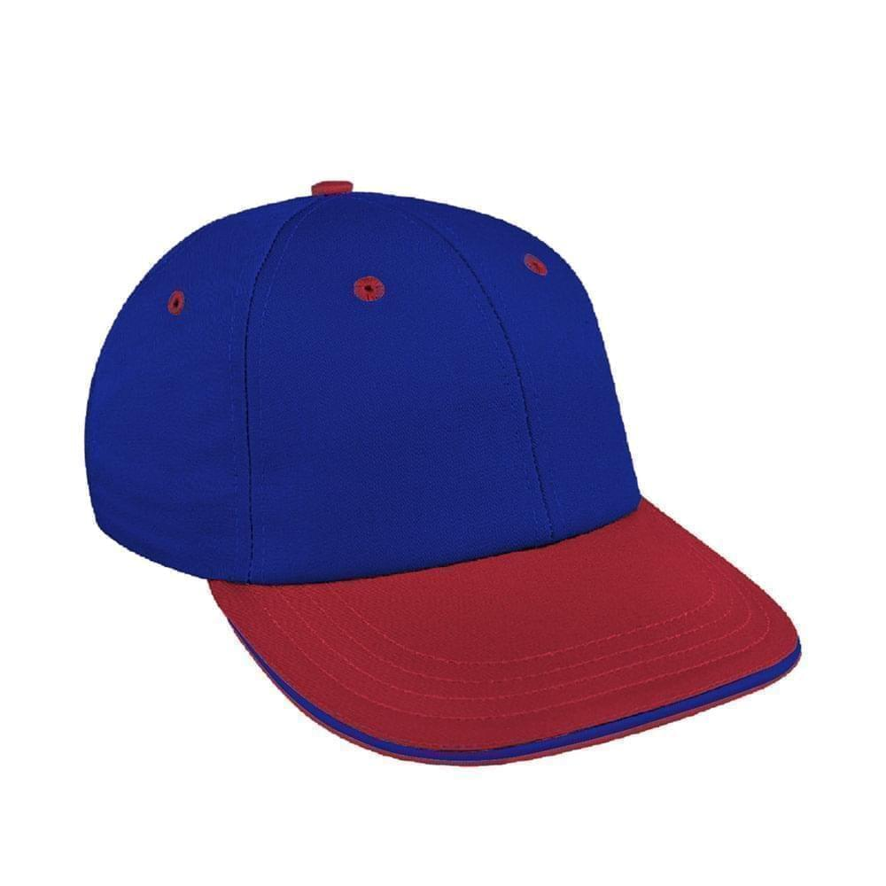 Royal Blue-Red Canvas Snapback Lowstyle