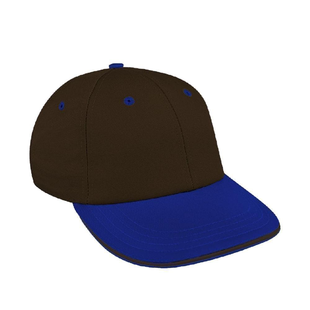 Black-Royal Blue Canvas Snapback Lowstyle