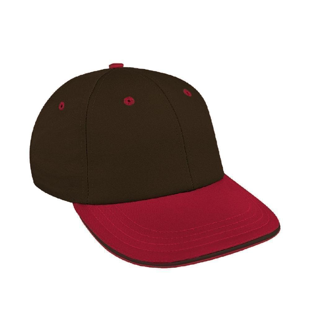 Black-Red Canvas Snapback Lowstyle