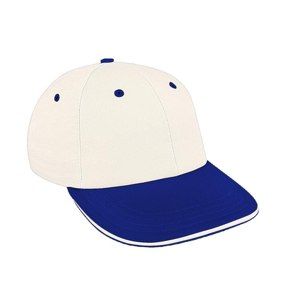 White-Royal Blue Canvas Snapback Lowstyle