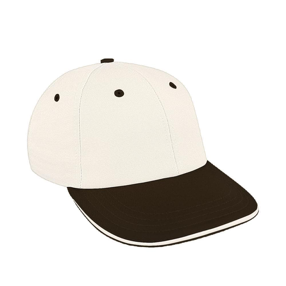 White-Black Canvas Snapback Lowstyle
