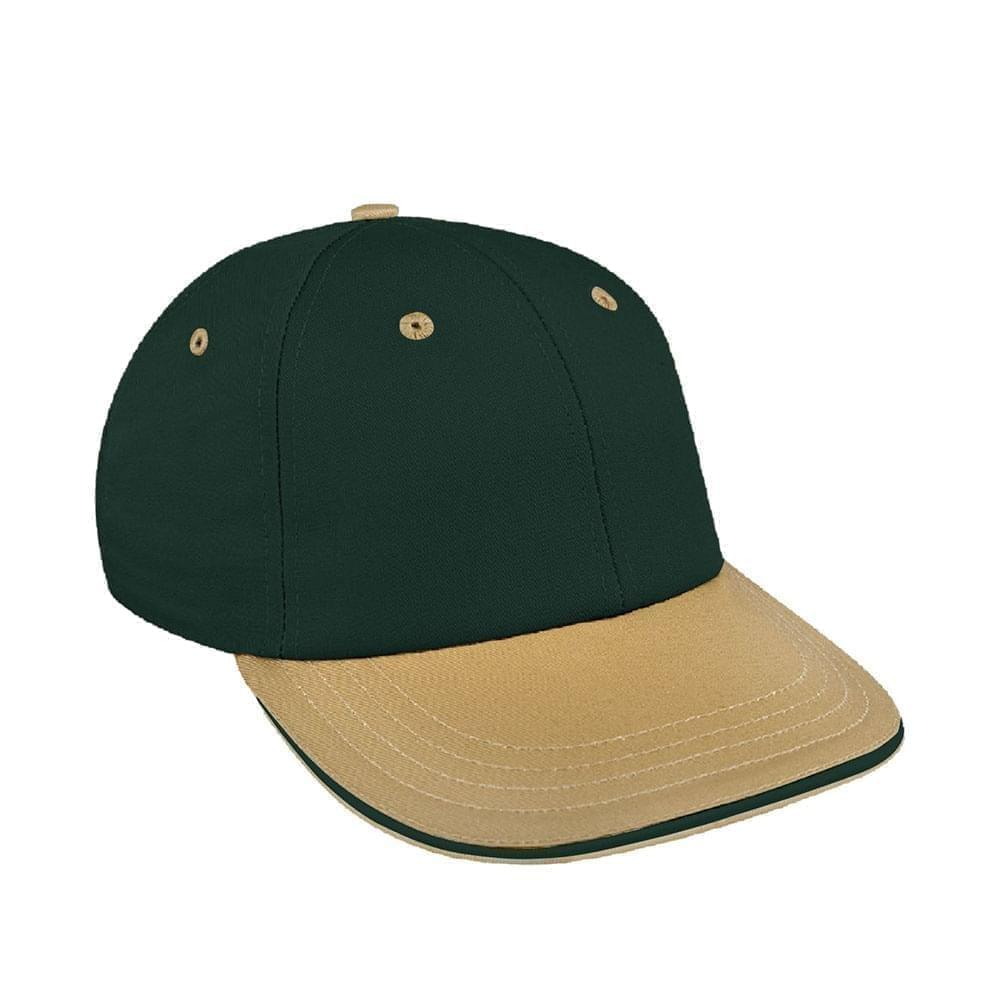 Hunter Green-Khaki Canvas Snapback Lowstyle